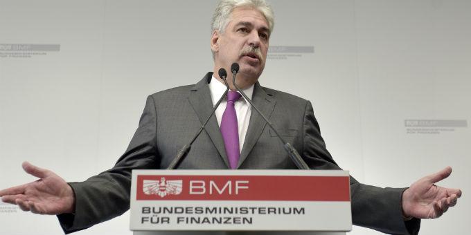 Österreichs Finanzminister Schelling mit leeren Händen: Für das Land Kärnten und dessen Heta-Probleme will er nicht haften.