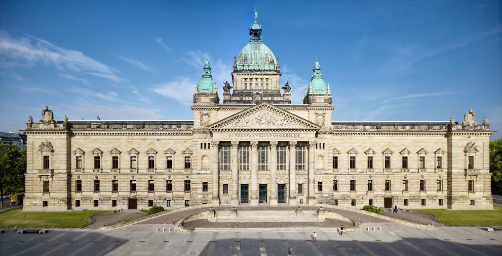 Bald ein Fall für das Bundesverwaltungsgericht (im Bild der Dienstsitz)? Der Landkreis Nordwestmecklenburg hat im Streit um die Kreisumlage der Gemeinde Perlin Revision gegen ein OVG-Urteil eingelegt.