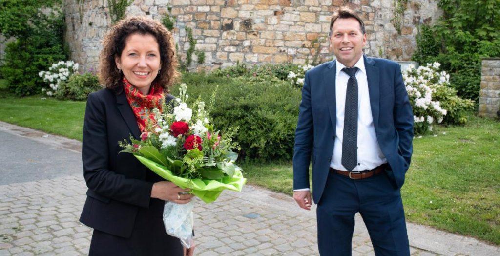 Miriam Mikus, Frank Hilker (Quelle: Stadt Detmold/Torben Gocke)