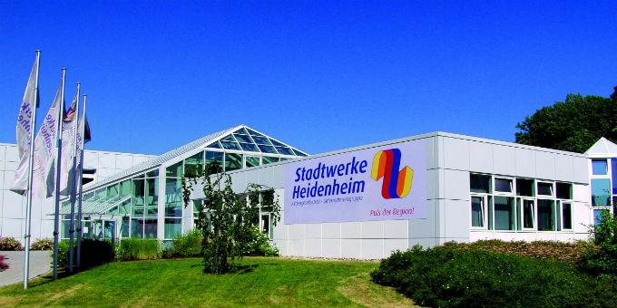 Frontansicht der Stadtwerke Heidenheim.