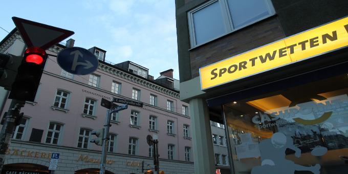 Ein Wettbüro in der Münchner Innenstadt