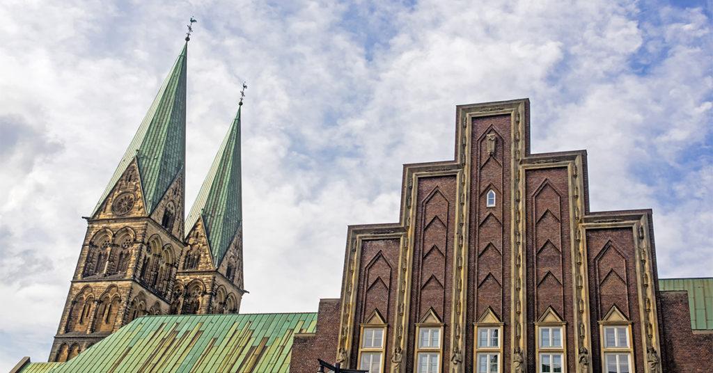 """Im Konzerthaus """"Die Glocke"""" in Bremen direkt neben dem Dom fand die erste Gläubigerversammlung im Rahmen des Insolvenzverfahrens der Greensill Bank statt."""