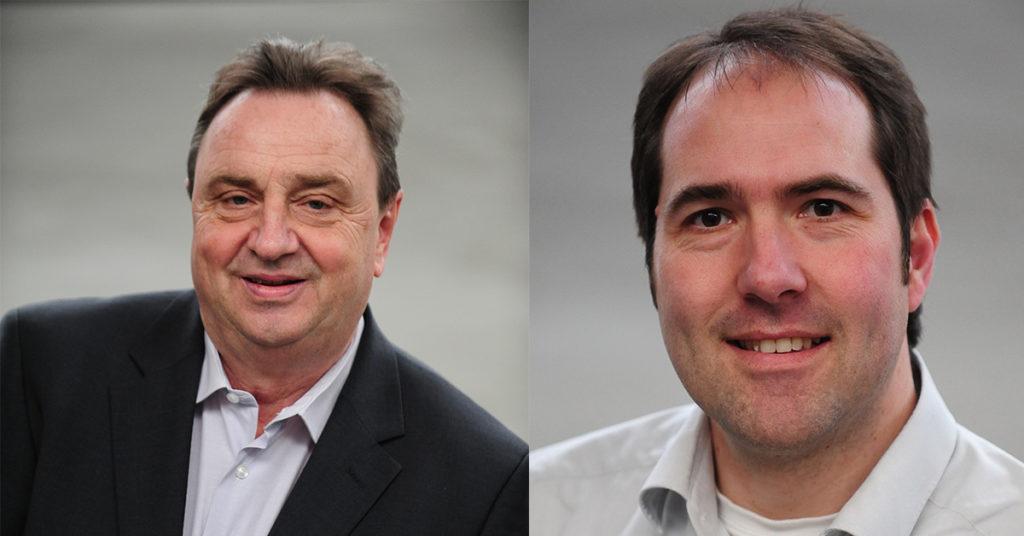 In Willich ist Kämmerer Willy Kerbusch in den Ruhestand gegangen. Es folgt der Grünen-Fraktionsvorsitzende Raimund Berg (v.l.).