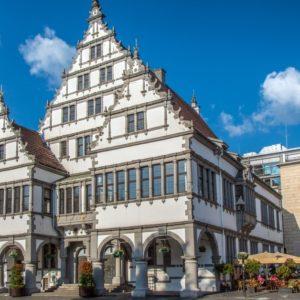 Blick auf das Rathaus der Stadt Paderborn